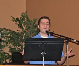 Sam during Worship Team